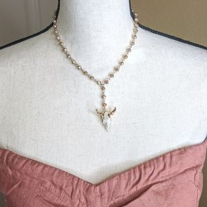 Jewelry - Craved Steer Gold Electroplated Rosary Necklace